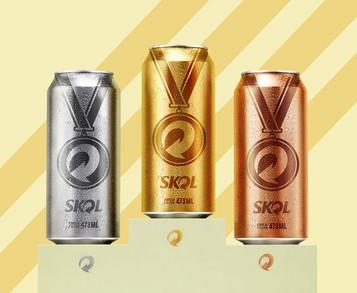 Skol lança latas inspiradas nas medalhas olímpicas
