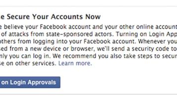 Facebook avisará usuário que tiver conta invadida por governo
