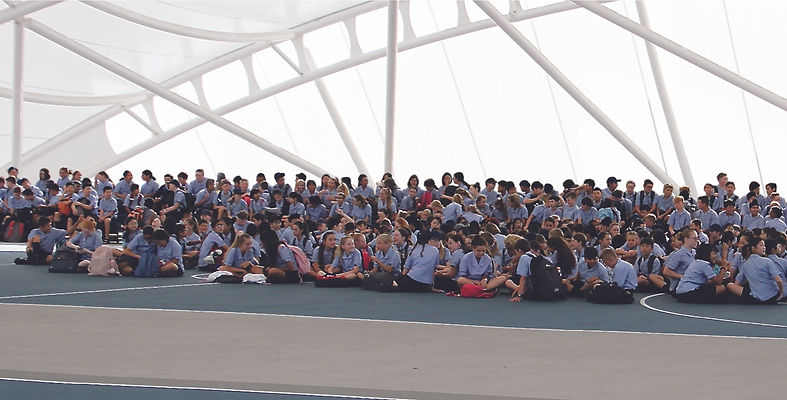 Bucklands Beach Intermediate students