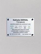 Plaque Nathalie Derval Thérapeute