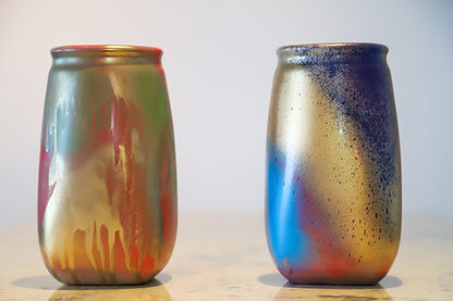 Vivacious Vase in blues and reds 1.jpg