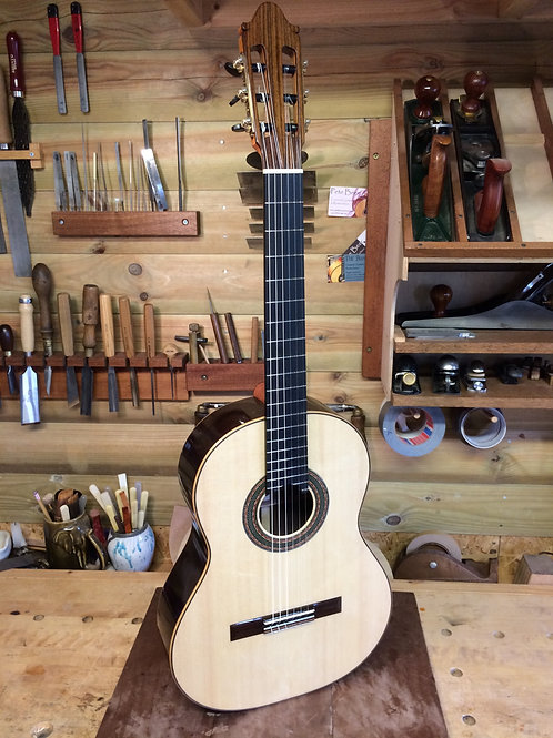 (Pending) no. 81 Concert Model, Spruce and Indian Rosewood. 2020