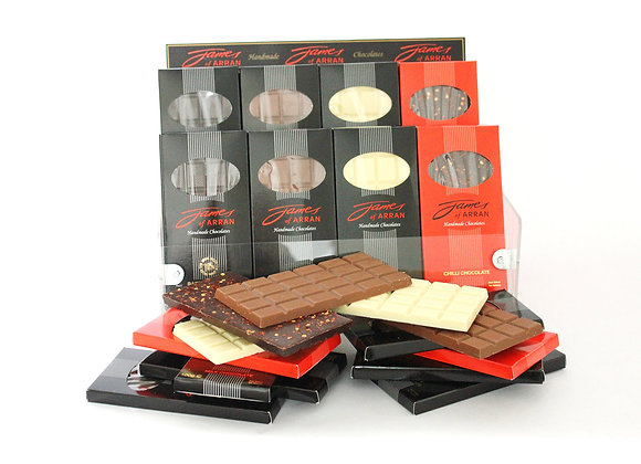4 x 100g Mixed Bars of Chocolate