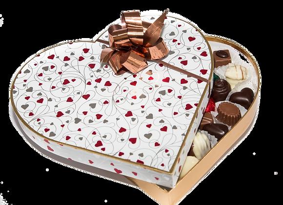 625g Heart Shaped Box of Handmade Chocolates