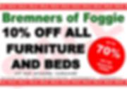 Sale Bremners of Foggie, sale furniture, sale beds, sale mattresses, sale carpets, sale tables, sale chairs, sale kitchen, sale bedding