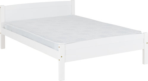 4'6'' Bed White