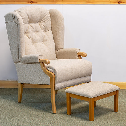 Cotswold High Back Winged Chair & Matching Footstool