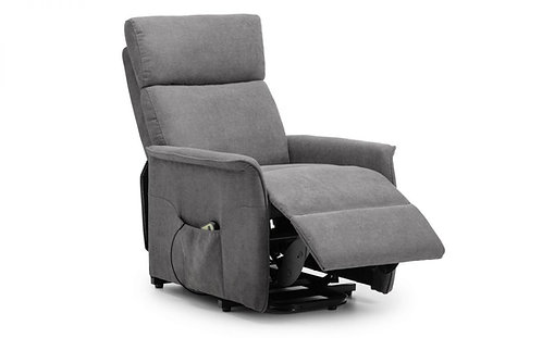 Electric recliner chair grey fabric