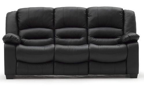 Barletto Black 3 Seater Sofa