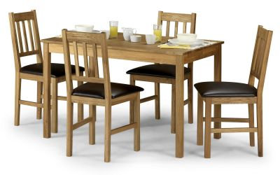 Oak Dining Set - Rectangular Table & 4 Chairs