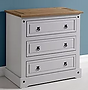 grey chest of drawers with pine top