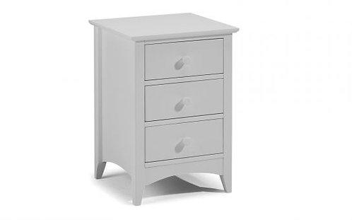 3 Drawer Bedside Grey