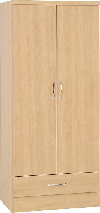 2 Door 1 Drawer Wardrobe