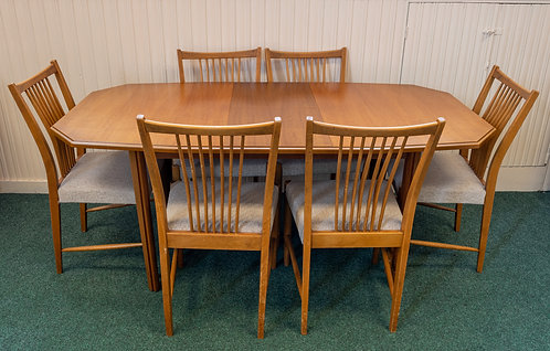 Teak Dining Set - Table + 6 chairs