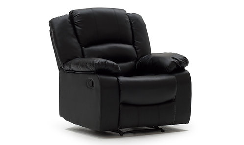 Barletto Black Leather Recliner Chair