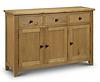 three drawer three door wooden sideboard