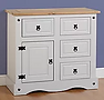 grey sideboard with pine top