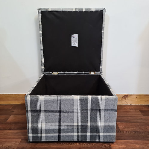 Square Tartan Storage Box
