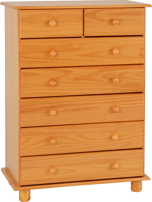 Sol Pine 5 + 2 Drawer Chest