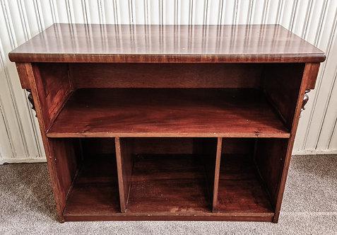 Vintage mahogany open unit