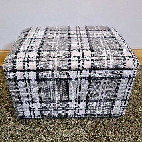 Tartan Fabric Small Storage Box