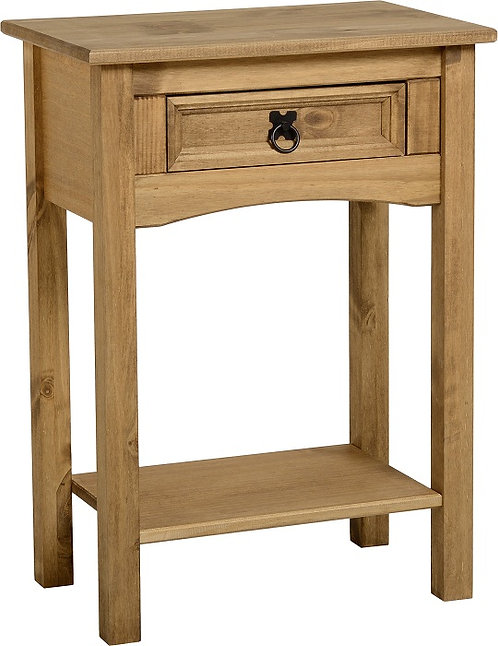 Corona Console 1 Drawer Table with Shelf