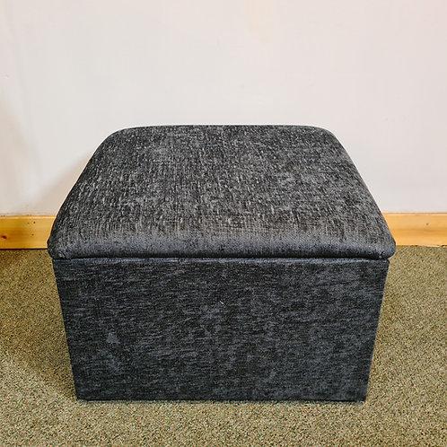 Grey Chenille Fabric Square Storage Box