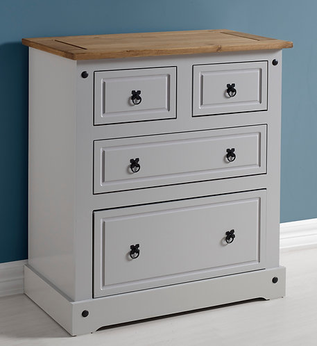 Corona Grey 2+2 Drawer Chest