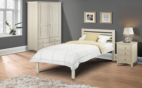 Single (3') Bed Frame in Stone White