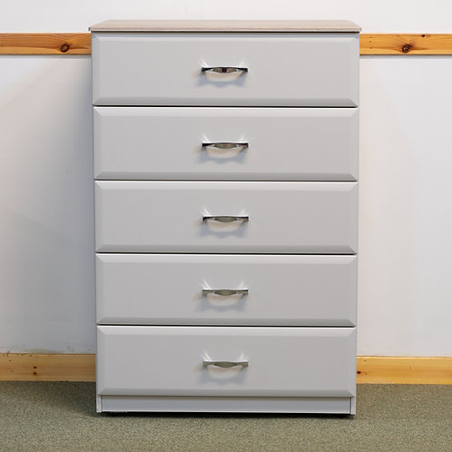 5 Drawer Chest 60 cm wide- Wessex Range Light Grey / Oyster