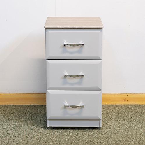 3 Drawer Chest 40 cm wide- Wessex Range Light Grey / Oyster
