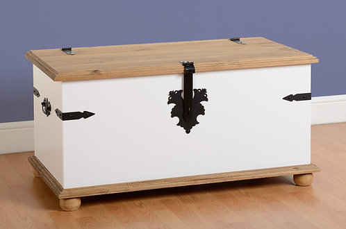 Corona White Single Storage Chest