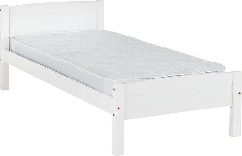 3' Single White Bedframe