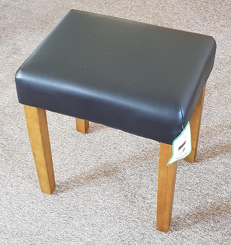 Stool with Faux Leather seat pad