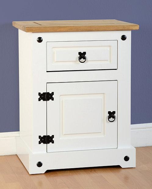 Corona White Bedside Cabinet