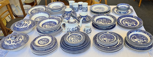 Blue & White Willow Pattern Tableware