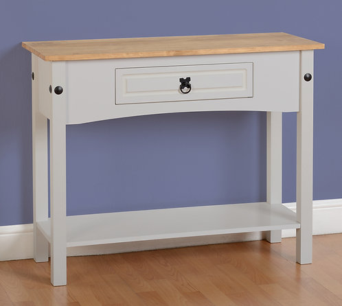 Corona Grey 1 Drawer Console Table