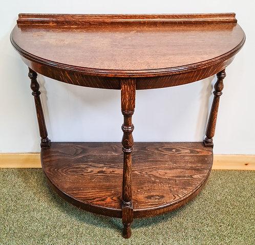 Vintage Oak half-moon table