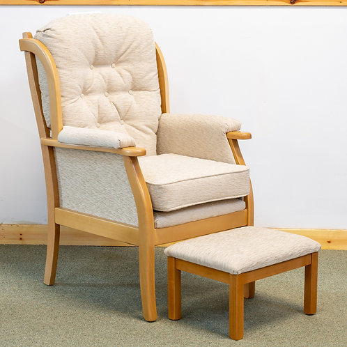 Cotswold High Back Chair & Matching Footstool