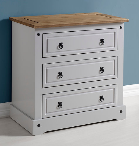 Corona Grey 3 Drawer Chest