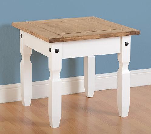 Corona White Lamp Table
