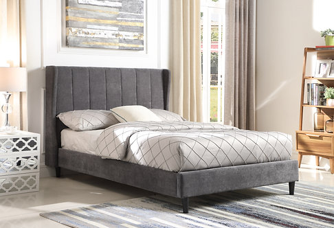 King (5') Grey Fabric Bed Frame