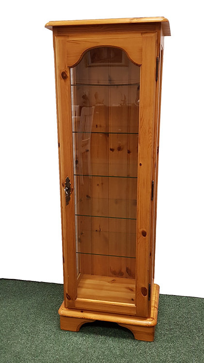 Pine Display Cabinet with Light