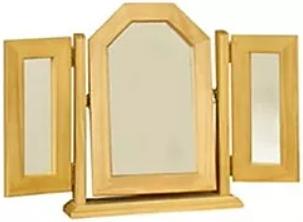 Sol Pine Triple Mirror
