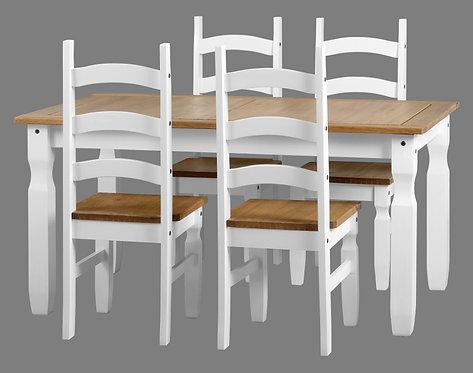 Corona White 5' Dining Set