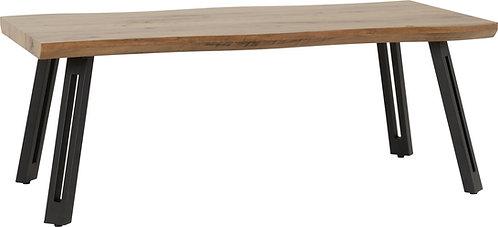 Oak Top Wave Edge Coffee Table