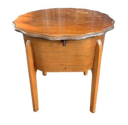 Antique Oak Sewing Work Box on legs