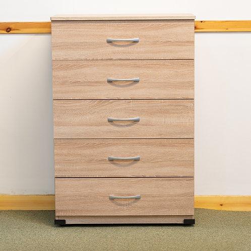 5 Drawer Chest  60 cm wide- Sovereign Range Sonoma
