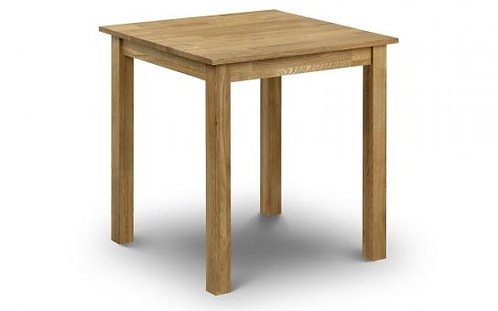 Oak Square Table with an oiled oak finish
