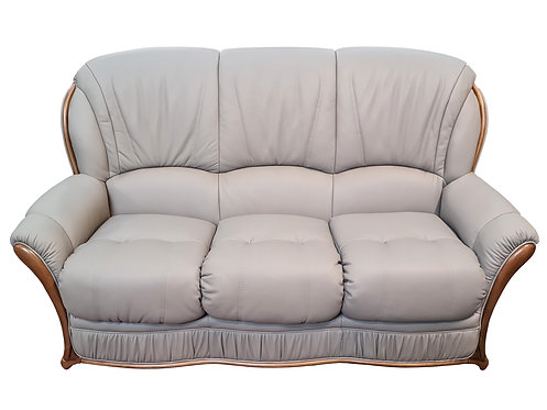 Italian Leather 3 Seater Sofa - matching Chairs available